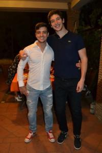 Claudio con Luigi Augello