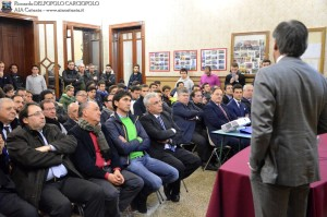 Domenico Messina alla platea Catanese