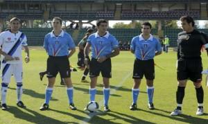 Fabio Maresca tra i nostri assistenti Tudisco e Santoro nella gara Ternana-Pisa in CAN PRO