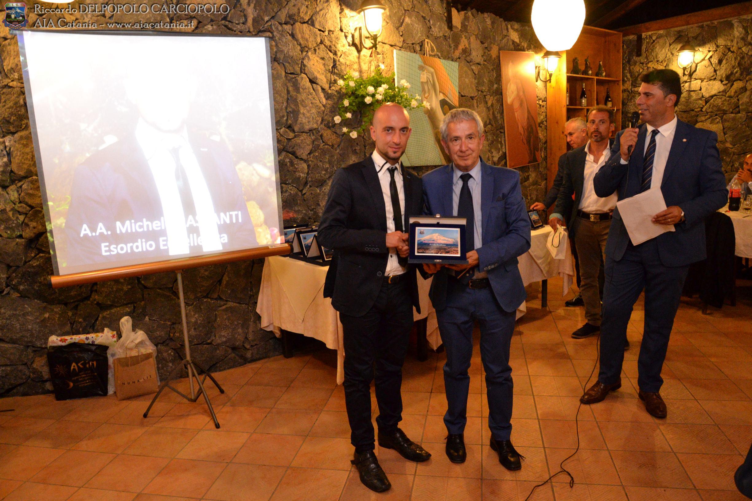 A.A. Michele RASPANTI premiato per l'esordio in Eccellenza.