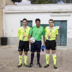 Matteo Cardona con l'ex arbitro internazionale Busacca