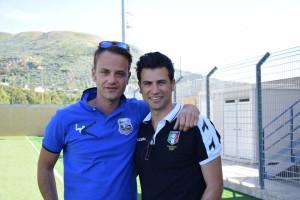 Davide Musumeci con Nino Santoro